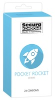 24 stk. Secura - Pocket Rocket Kondomer